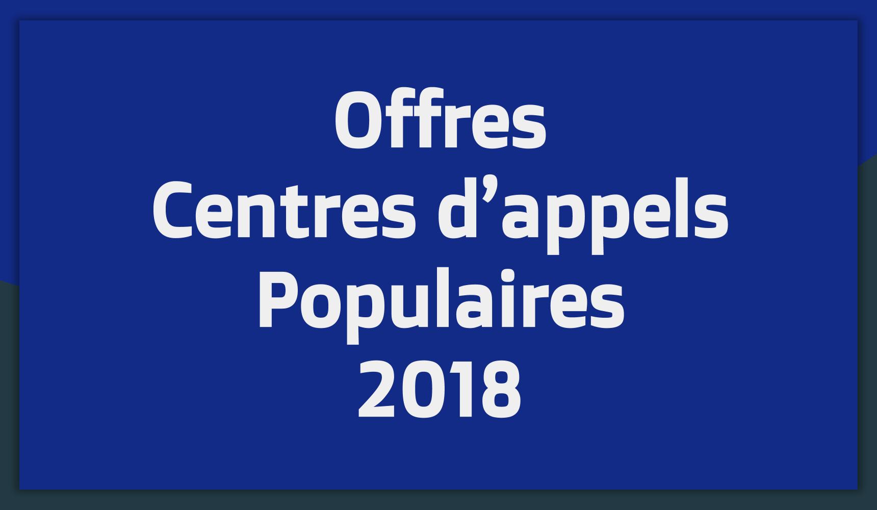 Offres d'emploi Centres d'appels Tunisie 2018