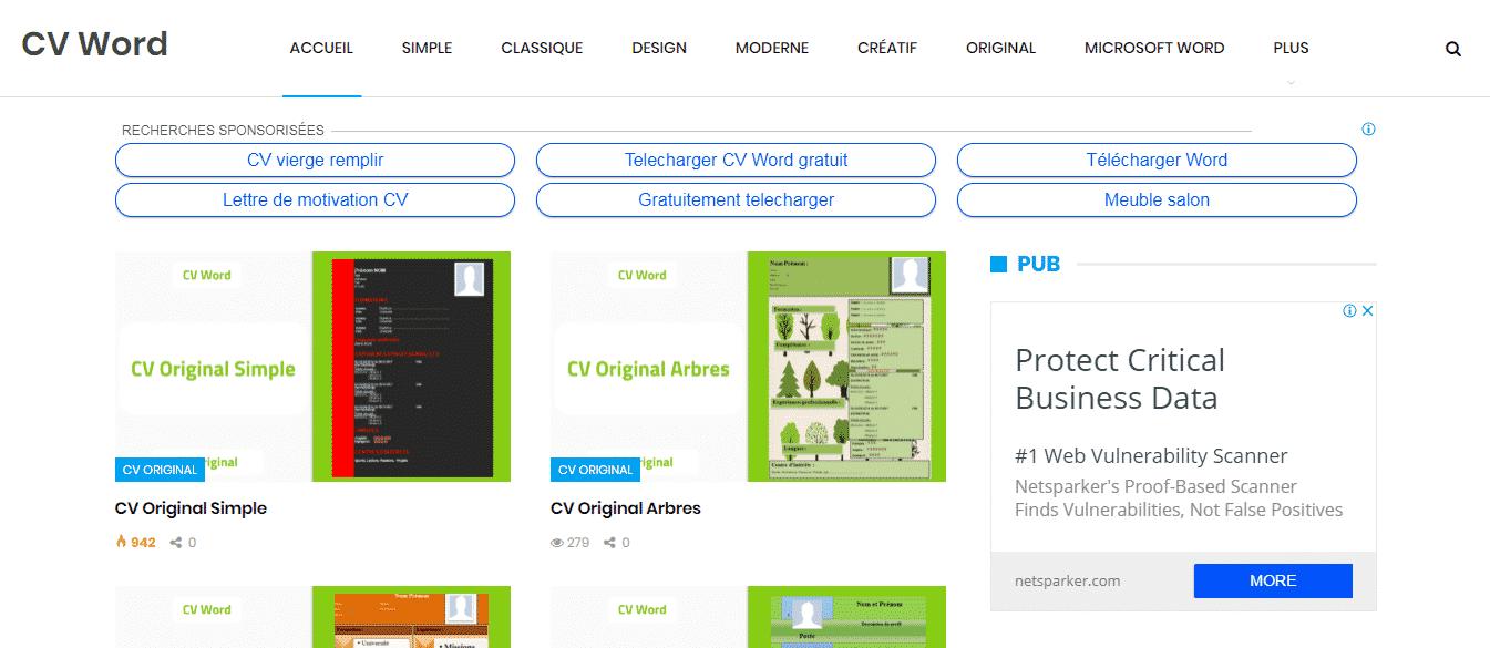 meilleurs sites pour t u00e9l u00e9charger des exemples de cv gratuits 2019