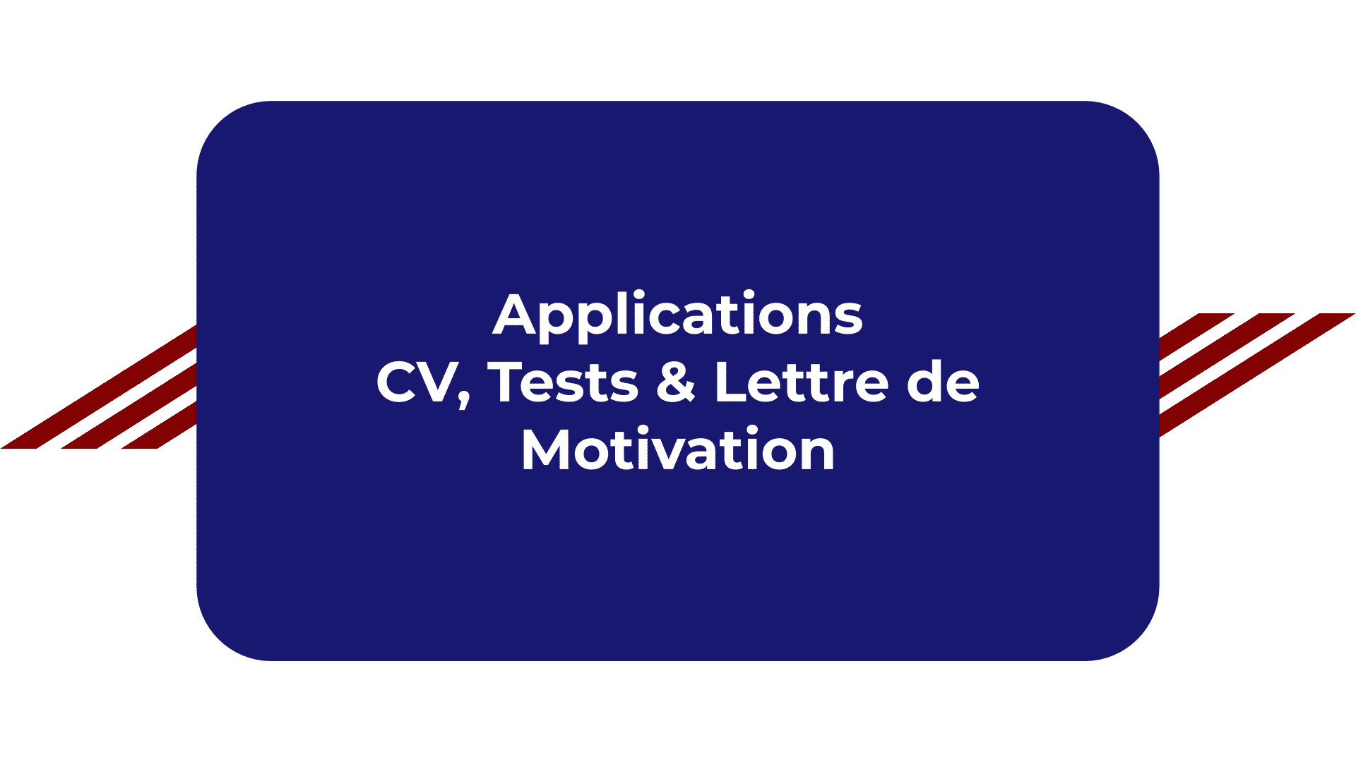 Applications CV, Tests & Lettre de Motivation