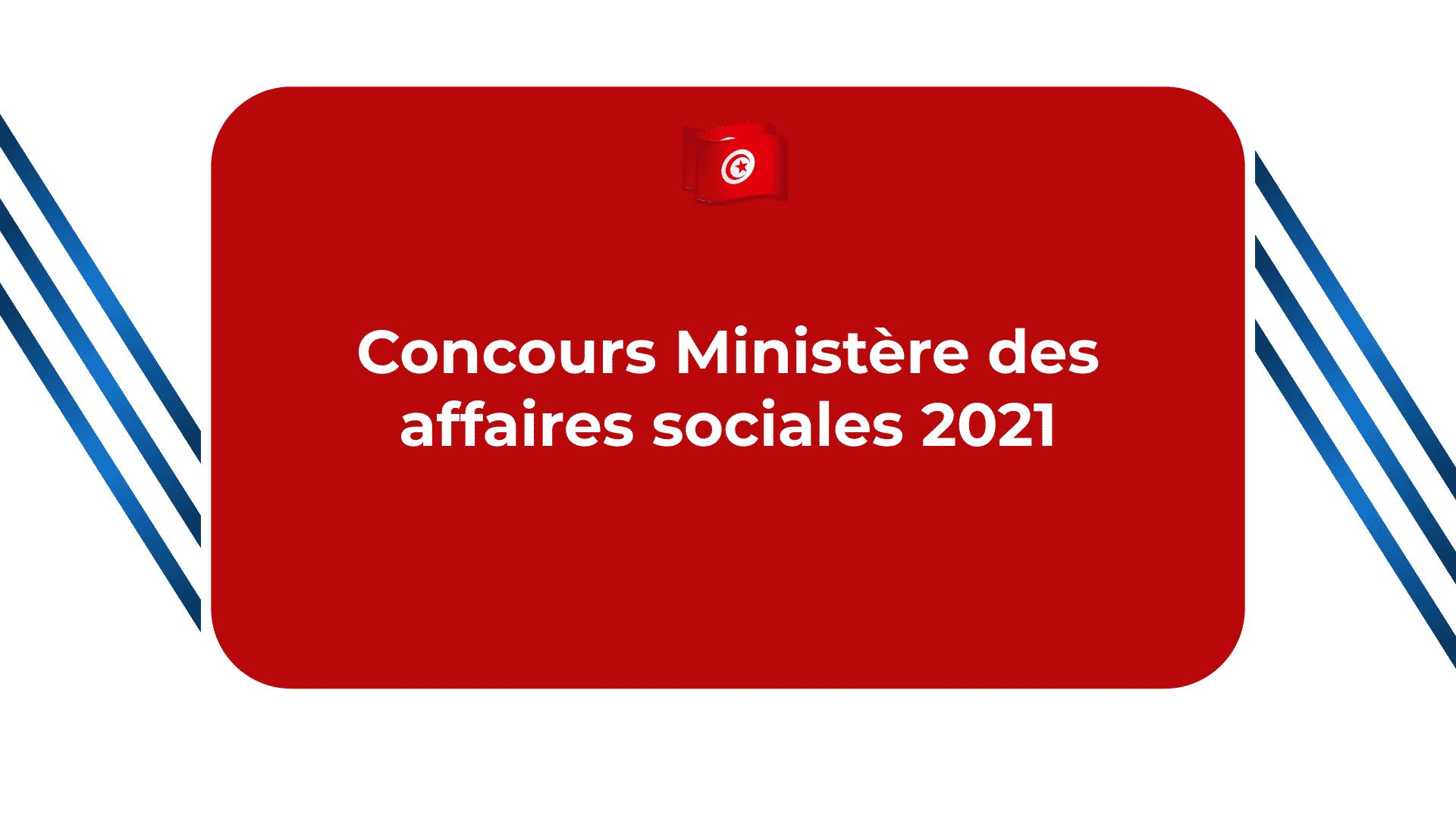 Concours Ministère des affaires sociales